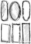 Doodle, Set hand drawn shapes, circle, square — Stock Photo