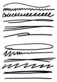 Doodle set hand drawn simply line — Stockfoto