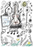Doodle abstract art design elements — Stock Photo