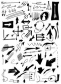 Doodle arrow collection isolated on white background — Stock Photo