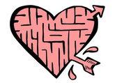 Doodle heart — Стоковое фото