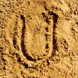 Stock Photo: Sand alphabet