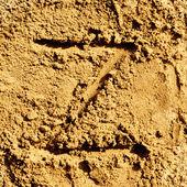 Sand alphabet — Stock Photo