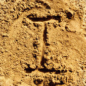 Sand alphabet — Stock Photo