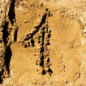 Sand number — Stock Photo
