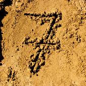 Sand anzahl — Stockfoto