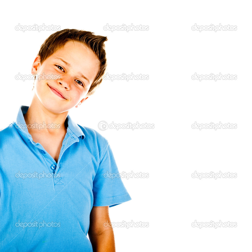 Little boy isolated on a white background — Stock Photo #13296820
