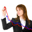 Royalty-Free Stock Photo: Business woman drawing graph
