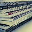 Stack of notebooks — Stock Photo