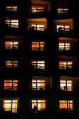Illuminated windows — Stock Photo