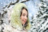 Woman in winter — Stock Photo