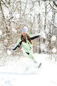 冬天的女人 — 图库照片