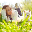 Woman with dog — Stock Photo #47215975