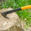 Axe in a stump — Stock Photo