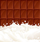 Milk and dark Chocolate — Stock Vector