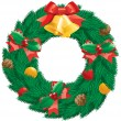Christmas  wreath — Vettoriali Stock