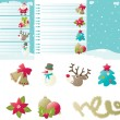 Set of backgrounds and icons for christmas - Stock Vector