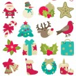 Christmas decorations — Imagen vectorial