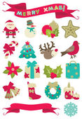 Christmas decorations — Vector de stock