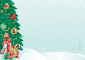 Noel ağacı ve Noel hediyeleri — Stok Vektör
