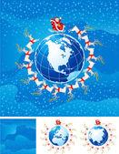Vektorové vánoční pozadí — Stock vektor