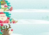 Conjunto de banner de natal — Vetorial Stock