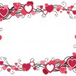 Border  with hearts — Stock Vector