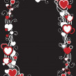 Frame with hearts - Stock Vector