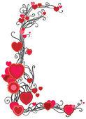 рамка с сердечками — Cтоковый вектор