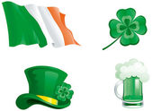 Set icons for St. Patrick's Day — Stock Vector
