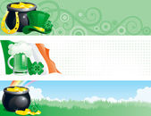 Banners for St. Patrick's Day — Stockvektor