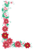 Floral border — Stock Vector