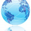 Royalty-Free Stock Vector Image: Internet globe