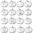 Set of pumpkin. — Stock Vector