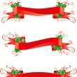 Set of banners with holly — Stock Vector #33919953