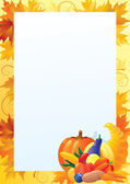 Vertical card for thanksgiving — Stock Vector
