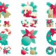 Christmas decorations — Stockvectorbeeld