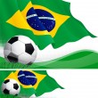Brazilian soccer — Stock Vector #36479951