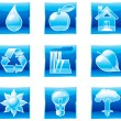 Set of shine environment icons  (part 1) — Stock Vector