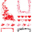 Set of Borders with hearts — Stock Vector #38860537
