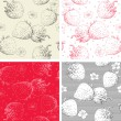 Strawberry seamless pattern backgrounds — Stock Vector #39392485