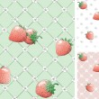 Strawberry seamless pattern backgrounds — Stock Vector #39409847
