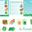 Set for St. Patrick's Day — Vector de stock