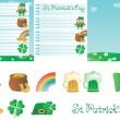 Set for St. Patrick's Day — Vecteur