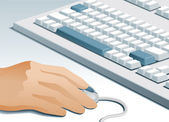 Utente del computer — Vettoriale Stock