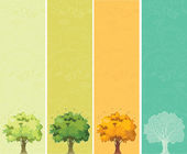 Four seasons - spring, summer, autumn, winter — Stock Vector