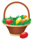 Easter basket — Vettoriale Stock