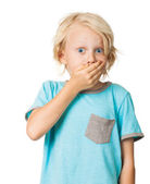 Shocked frightened boy — Stock Photo