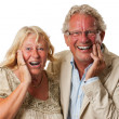 Happy surprised mature couple - Foto Stock