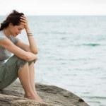 Sad and depressed woman crying — Stock Photo #21814045